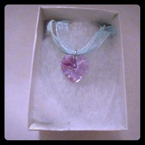 Jewelry - Vivid Violet Crystal Heart Necklace